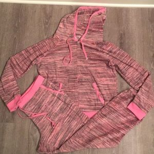 Juicy couture track suit size xl pink pants hoodie